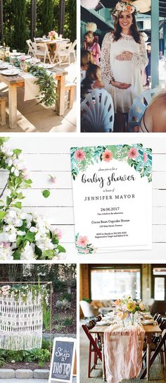 Floral Baby Shower Ideas by LittleSizzle. Printable Invitations for your Floral Gender Neutral Baby Shower in spring or summer. Easily personalize the invitation with your own words. Simply download, edit, print and trim!