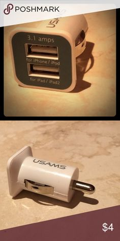 🚘📲🚗 USB to iPhone Car Charger 🚗📲🚘 🚘📲🚗 USB to iPhone Car Charger 🚗📲🚘New: USB to iPhone Car Charger  For iPods, iPhones, iPads, and pretty much any Apple product. multiple available. 2 for $5, 5 for $8, & 10 for $10  Free shipping if bundled with another listing :) Accessories