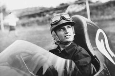 "Maria Teresa de Filippis, Italian racing driver, the first woman to race in the Formula One World Championship. She drove for Maserati and Porsche, and qualified in 3 Grands Prix. F1 legend, Fangio, told her ""You go too fast. You take too many risks"" (1958)"