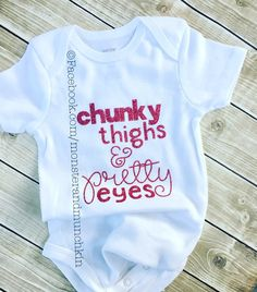 b58a32e8 Chunky thighs Pretty Eyes bodysuit, Baby Girl clothes, baby girl, infant  clothes, bodysuit, baby, infant, chunky thighs, glitter, girl, pink