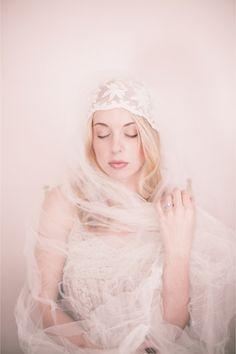 Vintage Wedding Veil Boudoir Shoot / Izzie Rae Photography