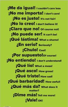 Here are 15 Spanish Learning Hacks I used to become Fluent Fast! Learn how to speak everyday, conversational Spanish now. Here are 15 Spanish Learning Hacks I used to become Fluent Fast! Learn how to speak everyday, conversational Spanish now. Spanish Grammar, English Vocabulary Words, Spanish English, English Phrases, Spanish Language Learning, Teaching Spanish, Spanish Activities, Common Phrases In Spanish, Spanish Slang Words