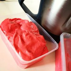 Daz in the Kitchen ... and other places too: Strawberry and raspberry sorbet ... in the Thermomix