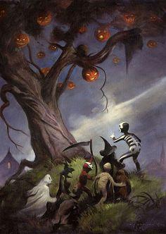 Halloween night at the Halloween Tree??? Maybe?