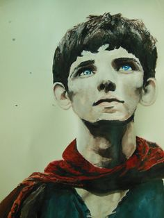 Merlin-Watercolor study (by yeah-i-drew-this) SO unbelievably pretty.