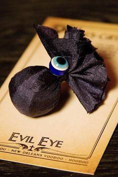 Louisiana Gris Gris bag...with Greek evil eye symbol! For Mardi gras or halloween
