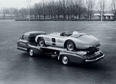 Mercedes race car transport