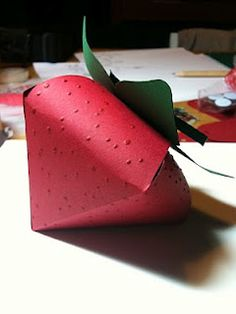 Paper strawberry - gift box?