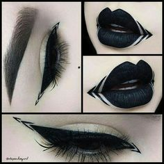 Gothic Eye and Lip Makeup.