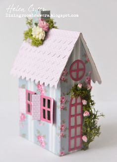 The Dining Room Drawers: Tim Holtz's Sizzix Village Cottage Dwelling/Brownstone Houses with Craft Consortium Tanya Whelan Wild Rose Papers
