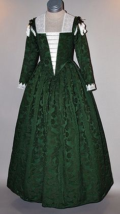 Green 16th Century Venetian Renaissance Gown
