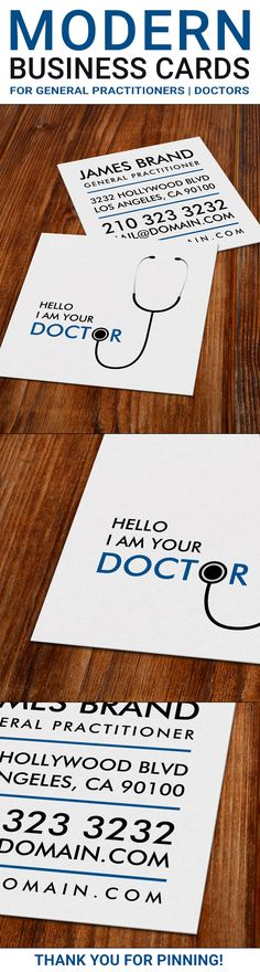 298 best zazzle business cards images on pinterest business cards business card for general practitioners the design shows an introductory line saying hello reheart Image collections