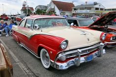 1956 Ford Fairlane, spotted at an Ocean City, MD show...