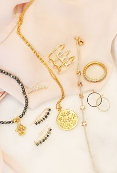Beautiful Delicate Gold Jewellery - Perfect For Everyday Wear And Layering