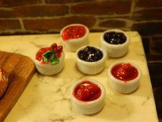 Miniature Ramekin of Jam   Handmade Miniature by JansPetitPantry