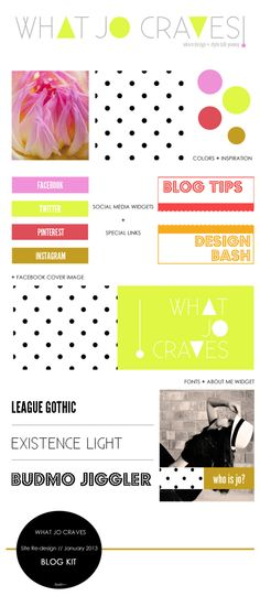 What Jo Craves - Blog Re-design Kit - January 2013 // whatjocraves.com or designbash.wordpress.com