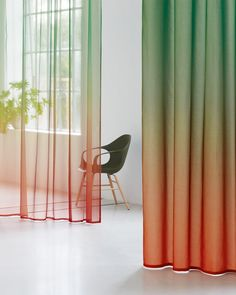 Product - Création Baumann - VOILE TINTO Espace Design, Cool Kids Rooms, House Plants Decor, Modern Curtains, Curtain Designs, Curtain Fabric, Window Coverings, Office Interiors, Retail Design