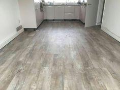 Marmoleum in a kitchen diner Hardwood Floors, Flooring, Grey Oak, Tile Floor, Kitchen, Wood Floor Tiles, Wood Flooring, Cooking, Kitchens