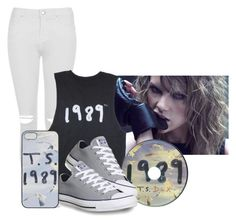 """""""Extreme Taylor Swift Fan"""" by heartsandbeauty ❤ liked on Polyvore featuring Topshop and Converse"""