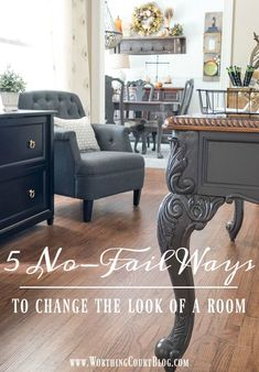 The Next Step In My Office Makeover – The Desk Makeover Farmhouse Style Home Office Desk Makeover Home Office Decor, Diy Home Decor, Room Decor, Office Desk, Office Furniture, Rustic Home Interiors, Office Makeover, Creative Decor, Creative Ideas