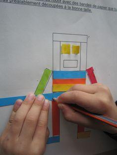 après reglettes cuisenaire: découper bandes de papier après avoir mesuré Grande Section, Kindergarten Math, Montessori, Homeschool, Education, Kids Math, Measurement Kindergarten, Teaching Kindergarten, Kindergarten Classroom