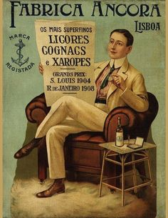 «Âncora Factory, The finest licquors, cognacs and syrups.»