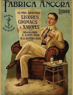 1908-Fabrica Ancora Lisboa  Cartaz bem antigo. - Lisboa