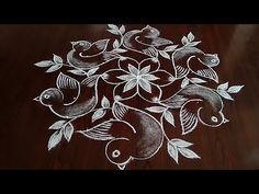 Simple Rangoli Border Designs, Simple Rangoli Kolam, Rangoli Designs Latest, Rangoli Designs Flower, Rangoli Borders, Free Hand Rangoli Design, Small Rangoli Design, Rangoli Kolam Designs, Rangoli Patterns