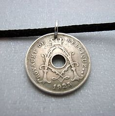 Coin Jewelry Antique Belgium COIN NECKLACE  by FindsAndFarthings, $9.95