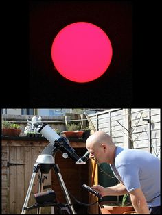First light with Lunt 60mm H-alpha Solar scope