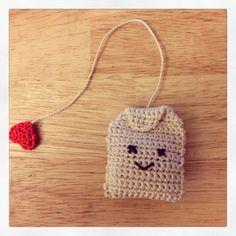 Crochet tea bag! #amigurumi Check out my shop on etsy.com/shop/chelseaandmarbles and follow me @chelsea_marbles