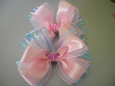 A Set of Hair Bows with Dragonfly Rhinestonesin the by ang744, $5.00