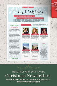 Botanique Newsletter Layout 4  Newsletter Template in PDF For Print     Digital Download  Adobe Reader Required