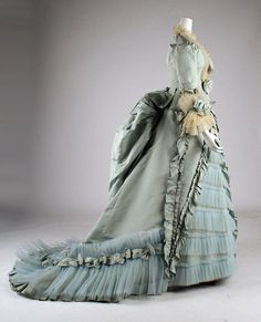 Unfathomable means something so complex that it can't be fully understood. This victorian dress is unfathomable because it has so many different things going on, so many different parts,  and its so complicated.