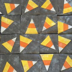 Candy Corn, Four Foundation Paper Piecing Blocks | Craftsy