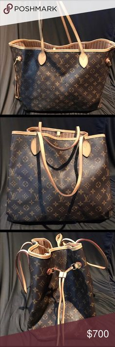 Authentic Louis Vuitton Never Full GM Authentic Louis Vuitton Never Full GM large monogram bucket bag was a gift and looking to upgrade to the black Epi leather luggage set. In excellent condition and used only once. Has normal wear and tear from being used once. Comes with original receipt, dust bag along with Poshmark verification. Perfect for every day use or carry on luggage. I am selling a few of the matching/same pieces in my closet from a luggage set. Louis Vuitton Bags Totes