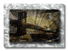 32x23 golden gate bridge metal wall art, modern home decor, metal wall sculpture, contemporary wall art -- Hurry! Check out this great product : Home Decor Sculptures