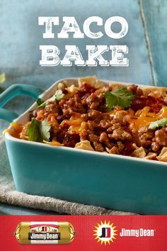 This delicious Mexican casserole recipe layered with tortilla chips, Jimmy Dean® Pork Sausage, tomatoes and kidney beans will spice up any dinner. Sausage And Bean Casserole, Beef Casserole Recipes, Cornbread Casserole, Sausage Recipes For Dinner, Ground Beef Recipes For Dinner, Easy Chicken Dinner Recipes, Ground Pork Tacos, Jimmy Dean Sausage, Healthy Ground Beef
