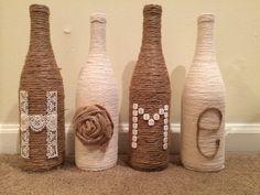 Spago casa bottiglia Decor di FindALittleDream su Etsy