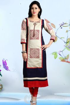 http://www.mangaldeep.co.in/latest-kurties/excellent-cream-ready-made-kurti-5349 For further inquiry whatsapp or call at +919377222211