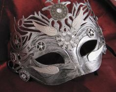 Mask, Masquerade Mask, Steampunk, Cosplay Mask, Mardi Gras Mask, Fantasy Mask, Watch Gears, Steampunk Costume, Michanical, Cosplay, Unisex
