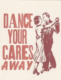 Dance You're Cares Away Greeting Card