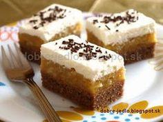 Jablkový koláč so šľahačkou - recepty Best Protein Bars, Low Carb Protein, Protein Cake, High Protein, No Bake Bars, Dessert Recipes, Desserts, Low Sugar, Sweet Tooth