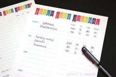 Download this free Food Diary, it is a great tool to track ...