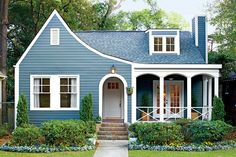 Charming Home Exteriors: Blue Homewood Cottage
