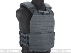 5.11 Tactical TacTec Plate Carrier - Storm Grey, Tac. Gear/Apparel, Body Armor & Vests, Foliage / Gray / Wolf - Evike.com Airsoft Superstore
