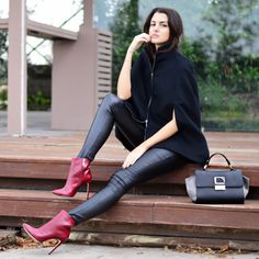 Capes leather and burgundy (cc: Pink Cloud Land by Vayia Kala) #followSANTE #SanteBloggersSpot #shopSANTE