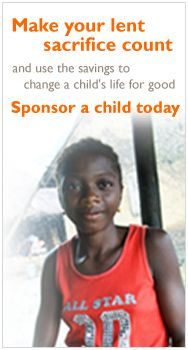 World Vision Lent calendar--Click on the calendar each day throughout Lent to watch a video of a different child from a different part of the world to pray for.