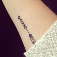 Arrow wrist tattoo