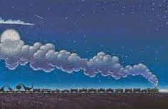Tom Lichtenheld's colorful pastel illustrations in the Steam Train, Dream train by Sherri Duskey Rinker (author of Good Night, Construction site)